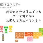 新日本エネルギーの料金を各エリア地方電力と比較