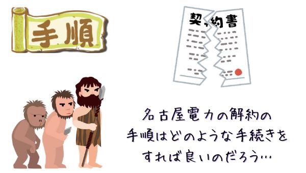 名古屋電力の解約手順